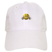 Rude Emoticon Finger Baseball Cap