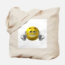 Rude Emoticon Finger Tote Bag
