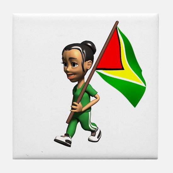 Guyana Girl Tile Coaster