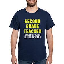 2nd Grade Teacher Superpower T-Shirt