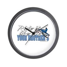 Ride it like... it's your brothers Wall Clock