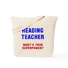Reading teacher superpower Tote Bag