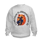 Irish Witch (Gaelic) Kids Sweatshirt