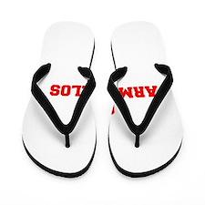 ARMADILLOS-Fre red Flip Flops