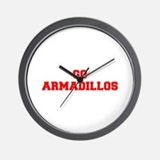 ARMADILLOS-Fre red Wall Clock