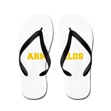 Armadillos-Fre yellow gold Flip Flops
