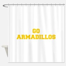 Armadillos-Fre yellow gold Shower Curtain