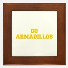 Armadillos-Fre yellow gold Framed Tile