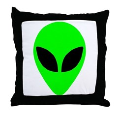 Alien Head Throw Pillow