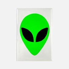 Alien Head Rectangle Magnet (10 pack)