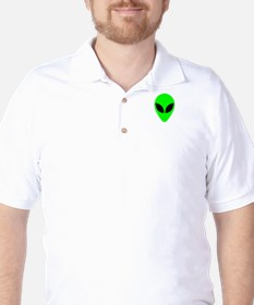Alien Head Golf Shirt