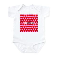 I Love God! Infant Bodysuit