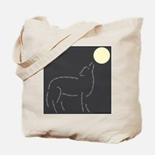 """Wolf Tote Bag: """"Hungry"""" Wolf"""