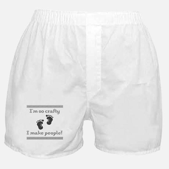Im so crafty I make people! Black Boxer Shorts