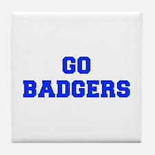 Badgers-Fre blue Tile Coaster