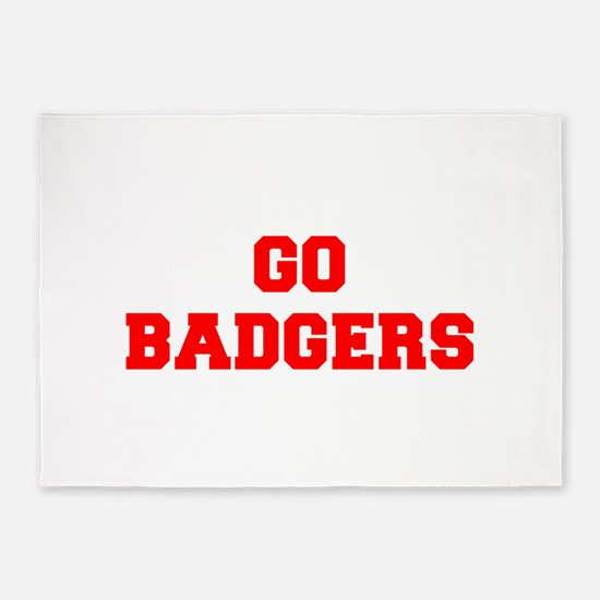 BADGERS-Fre red 5'x7'Area Rug