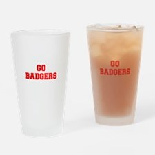 BADGERS-Fre red Drinking Glass