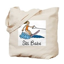 Ski Babe Tote Bag