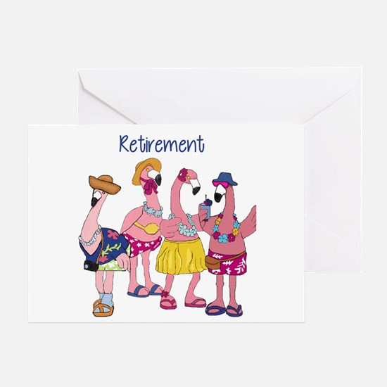 Retired Flamingos Greeting Cards