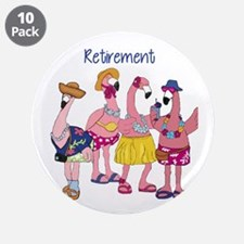 "Retired Flamingos 3.5"" Button (10 pack)"