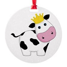 King Cow Ornament