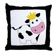 King Cow Throw Pillow