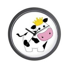 King Cow Wall Clock