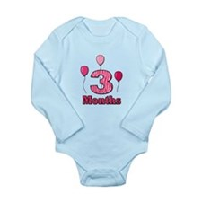 3 Months - Pink Zebra Body Suit