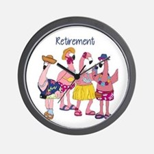 Retired Flamingos Wall Clock
