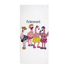 Retired Flamingos Beach Towel