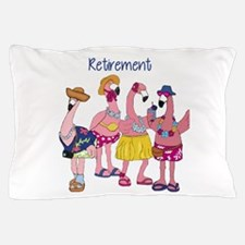 Retired Flamingos Pillow Case