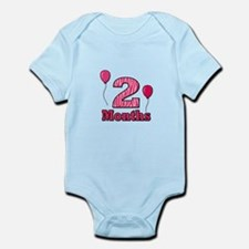 2 Months - Pink Zebra Body Suit