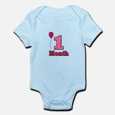 1 Month - Pink Zebra Body Suit
