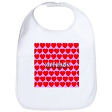 I Love Hearts! Bib