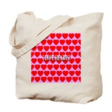 I Love Hearts! Tote Bag