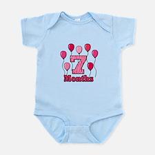 7 Months - Pink Zebra Body Suit