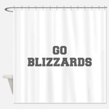 BLIZZARDS-Fre gray Shower Curtain
