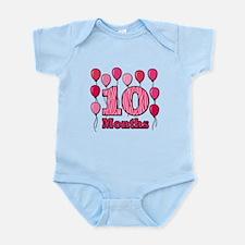 10 Months - Pink Zebra Body Suit