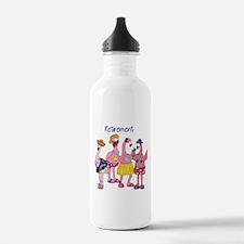 Retired Flamingos Water Bottle