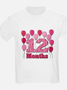 12 Months - Pink Zebra T-Shirt