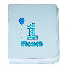 1 Month - Baby Milestones baby blanket