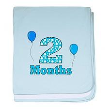 2 Months - Baby Milestones baby blanket