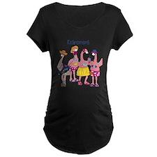 Retired Flamingos Maternity T-Shirt