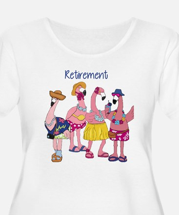 Retired Flamingos Plus Size T-Shirt