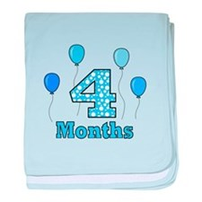 4 Months - Baby Milestones baby blanket