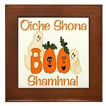 Gaelic Halloween Boo! Framed Tile