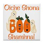 Gaelic Halloween Boo! Tile Coaster