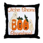 Gaelic Halloween Boo! Throw Pillow
