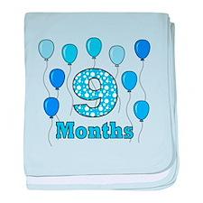 9 Months - Baby Milestones baby blanket