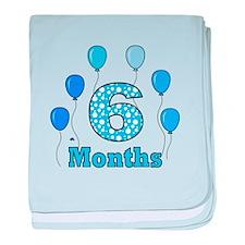 6 Months - Baby Milestones baby blanket